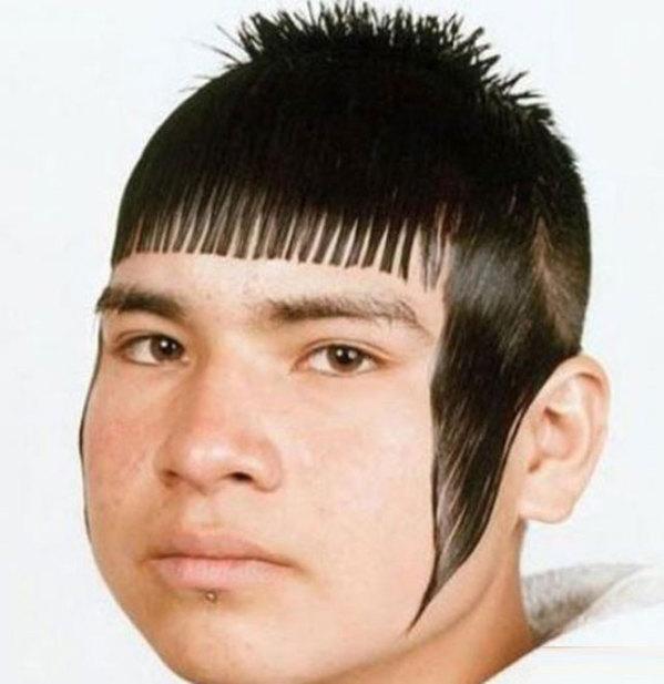 Gaya rambut sisir di jidat